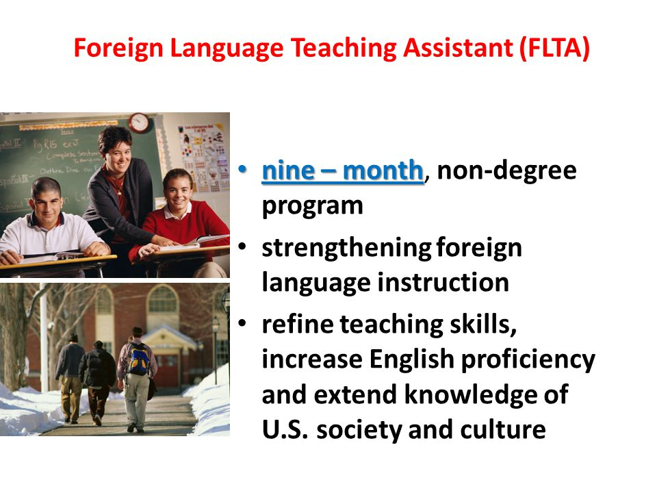 Foreign Language Teaching Assistant (FLTA)