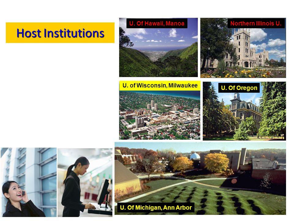 Host Institutions U. Of Hawaii, Manoa Northern Illinois U.