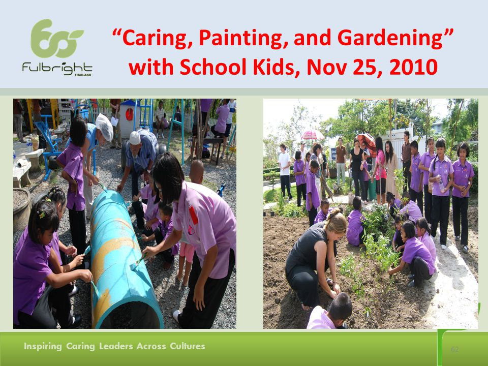 Caring, Painting, and Gardening with School Kids, Nov 25, 2010
