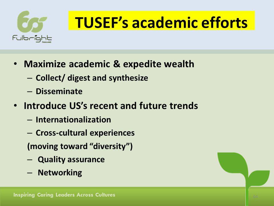 TUSEF's academic efforts