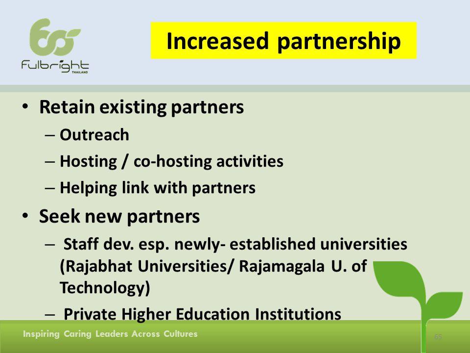 Increased partnership