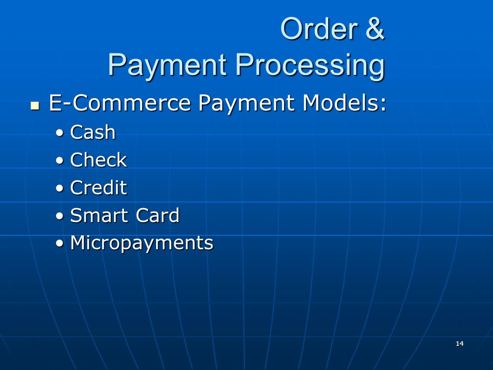 Order & Payment Processing