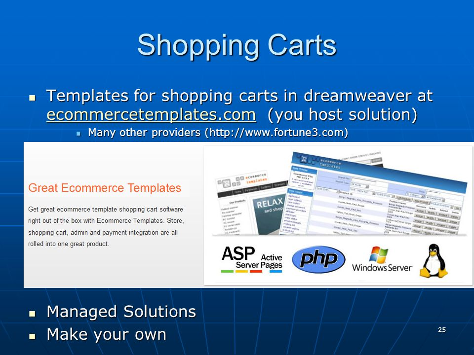 E commerce ppt download for Dreamweaver shopping cart templates