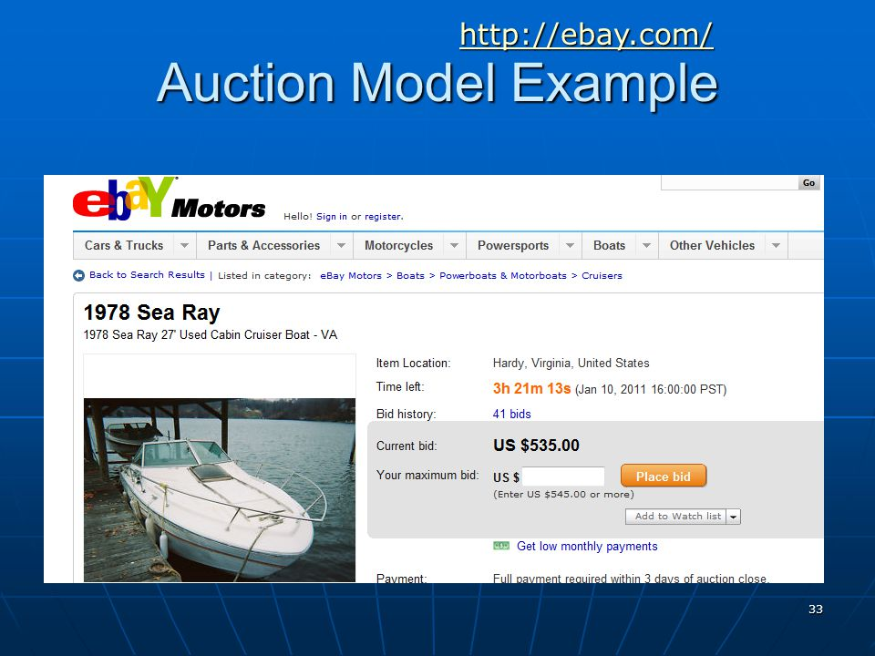 http://ebay.com/ Auction Model Example