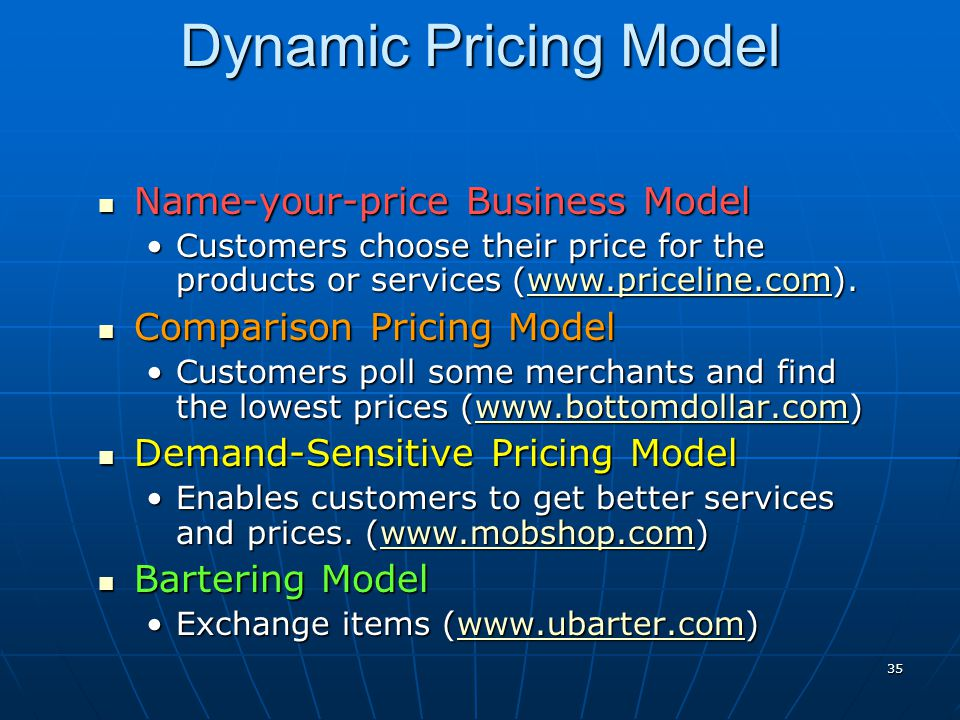 Dynamic Pricing Model Name-your-price Business Model