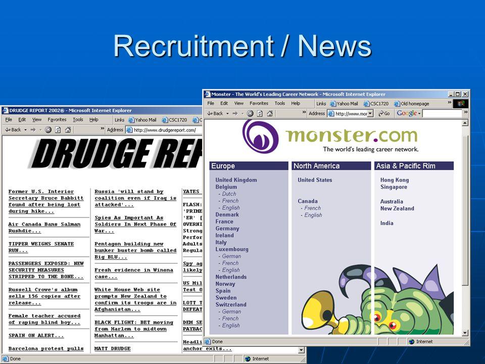 Recruitment / News