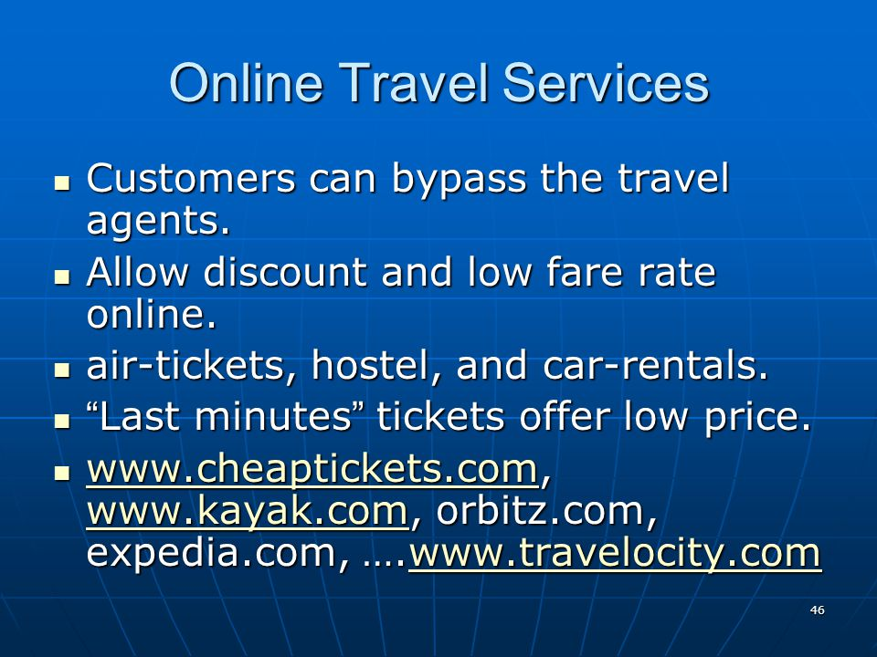 Online Travel Services