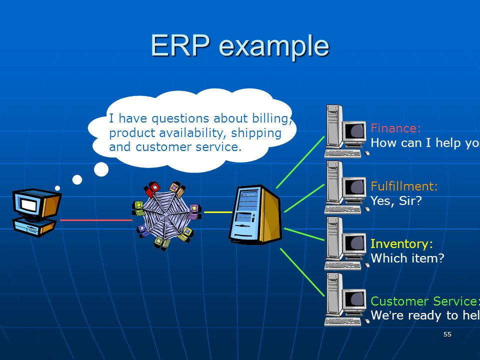ERP example I have questions about billing,