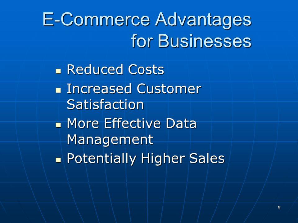 E-Commerce Advantages for Businesses