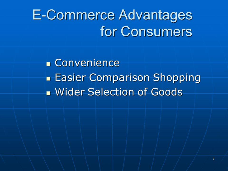 E-Commerce Advantages for Consumers