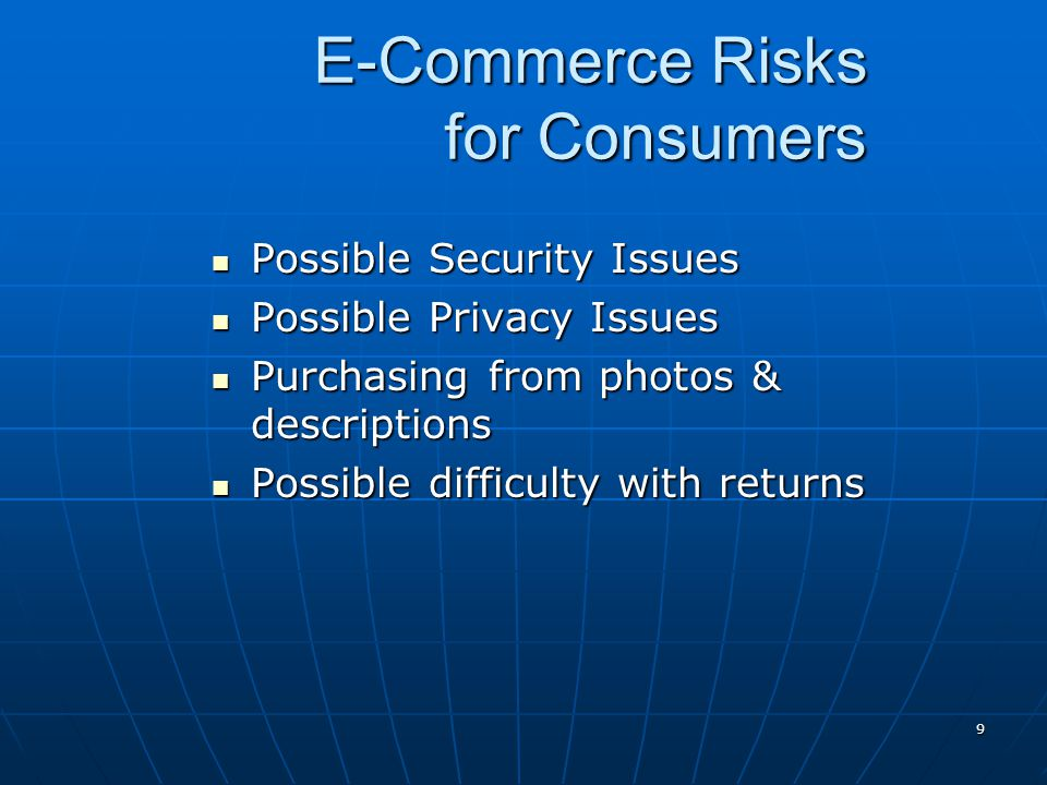 E-Commerce Risks for Consumers