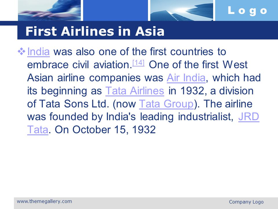 First Airlines in Asia