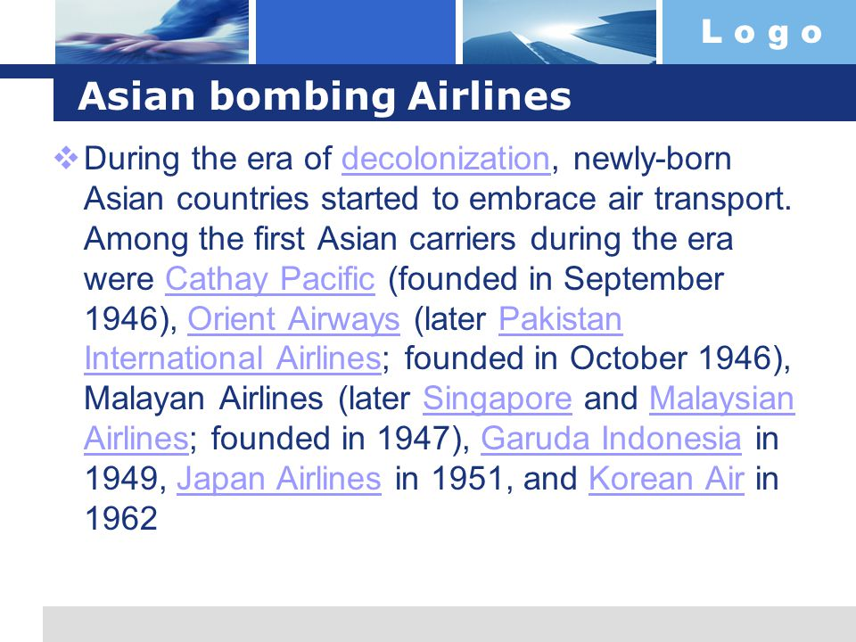 Asian bombing Airlines