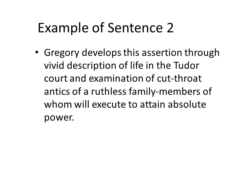 Example of Sentence 2
