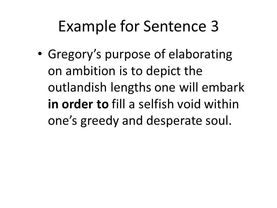 Example for Sentence 3