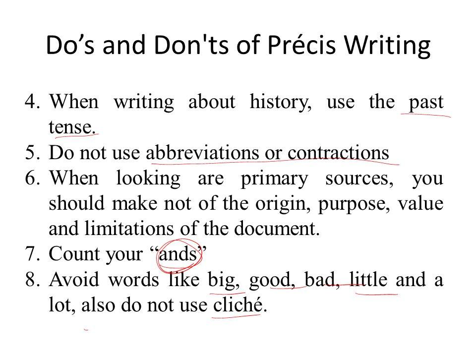 Professional precis and precis writing services