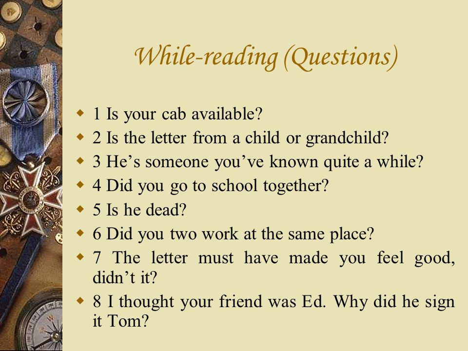 While-reading (Questions)