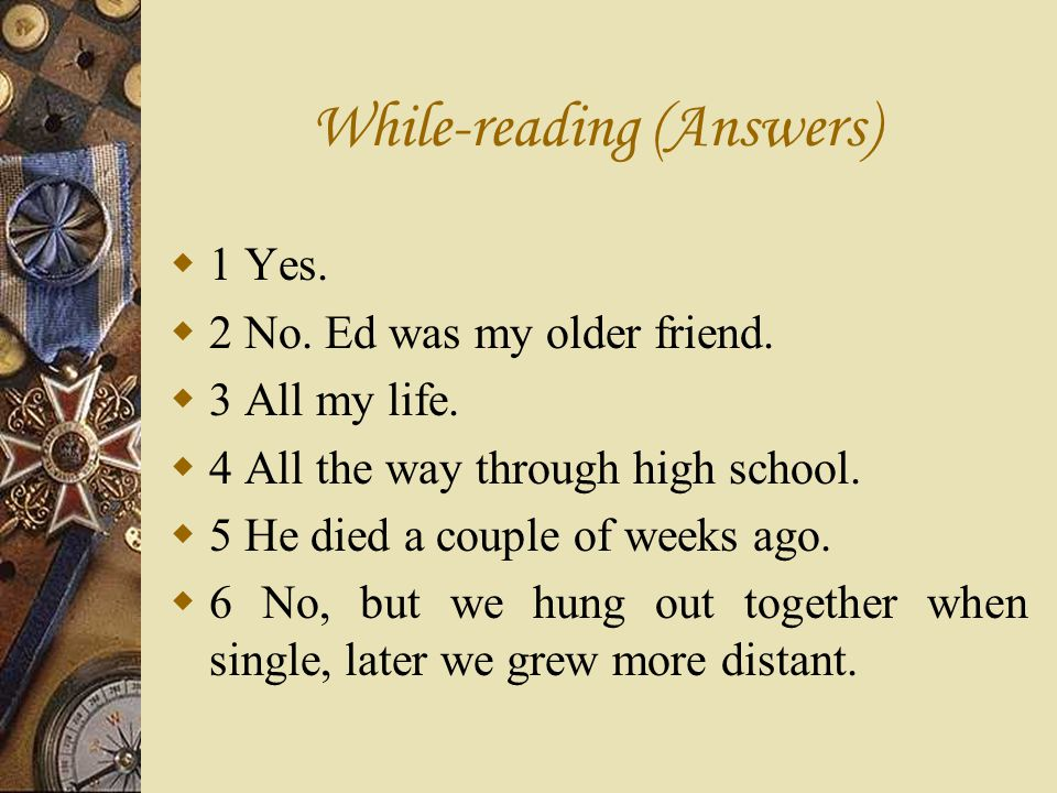 While-reading (Answers)