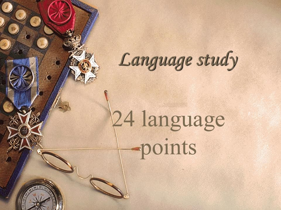 Language study 24 language points