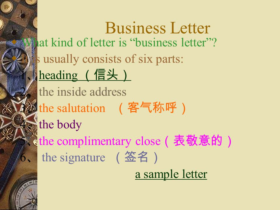 Business Letter What kind of letter is business letter