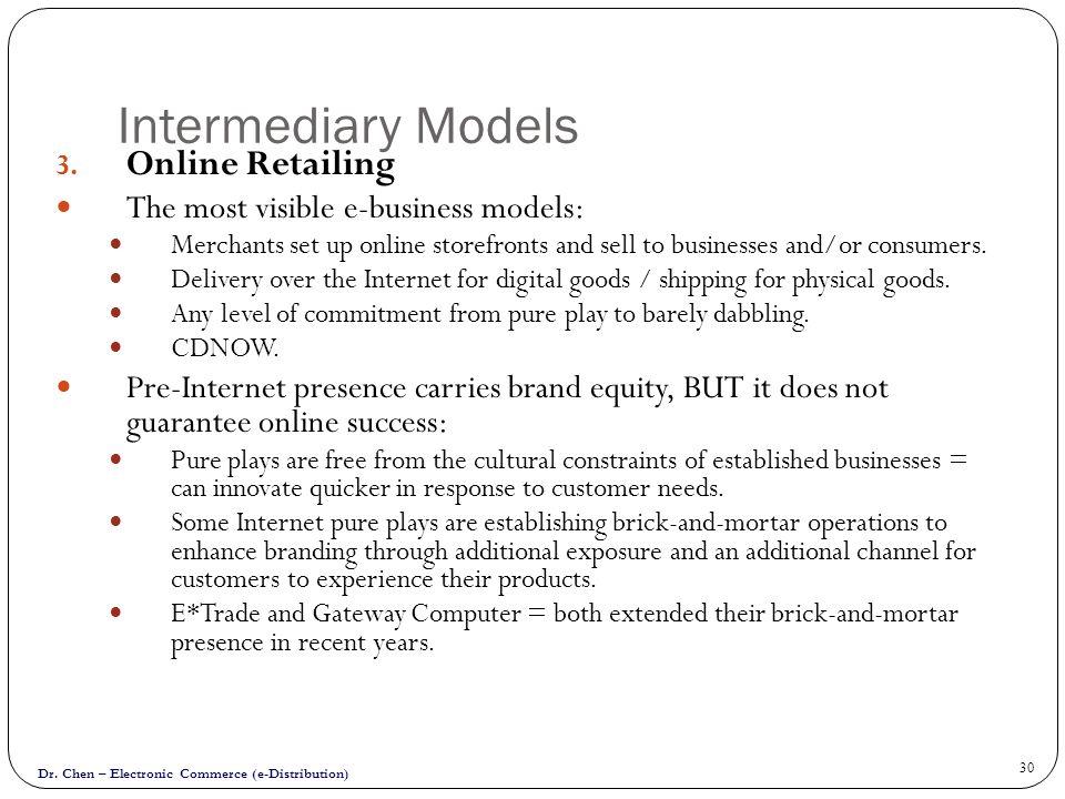 Intermediary Models Online Retailing