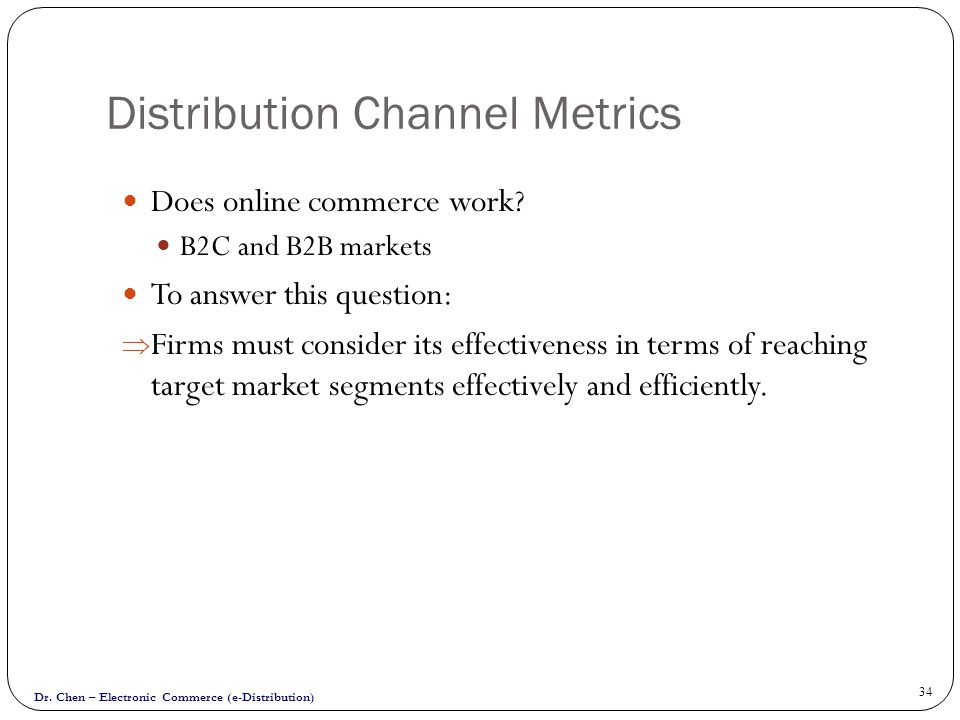 Distribution Channel Metrics