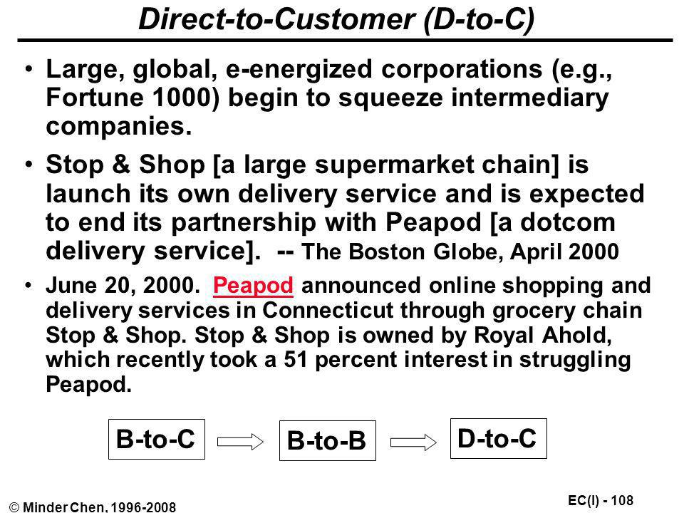 Direct-to-Customer (D-to-C)
