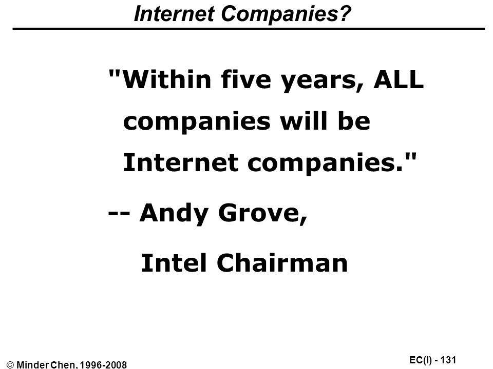 Within five years, ALL companies will be Internet companies.