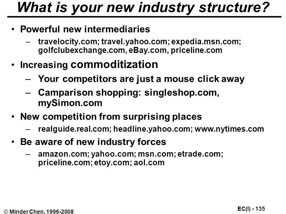 What is your new industry structure