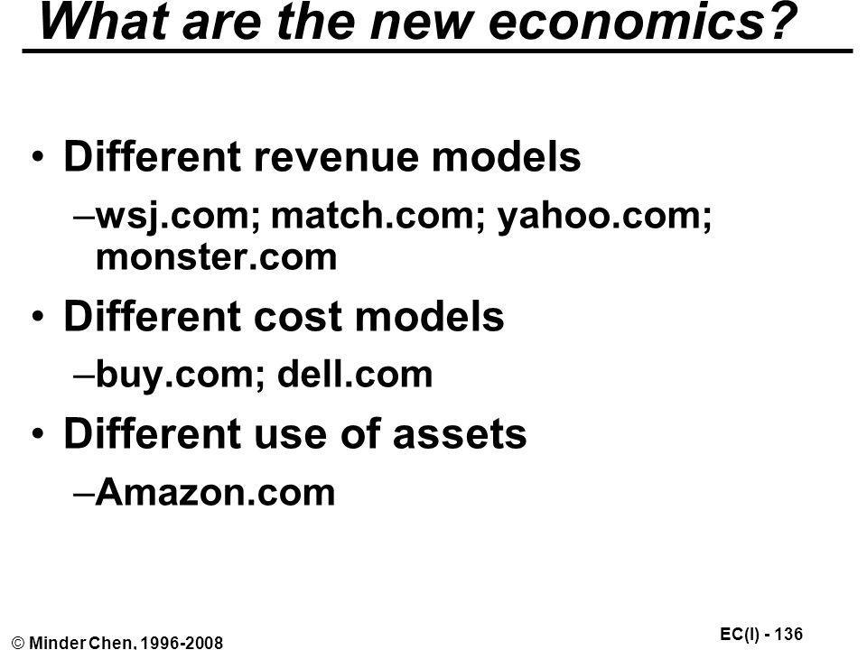 What are the new economics