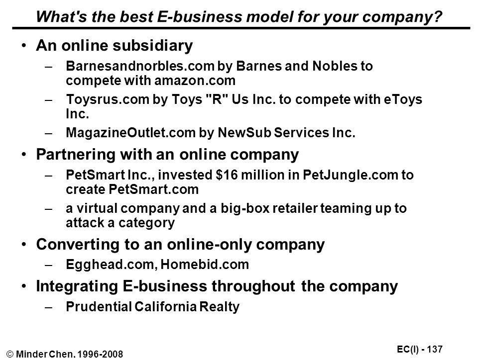 What s the best E-business model for your company