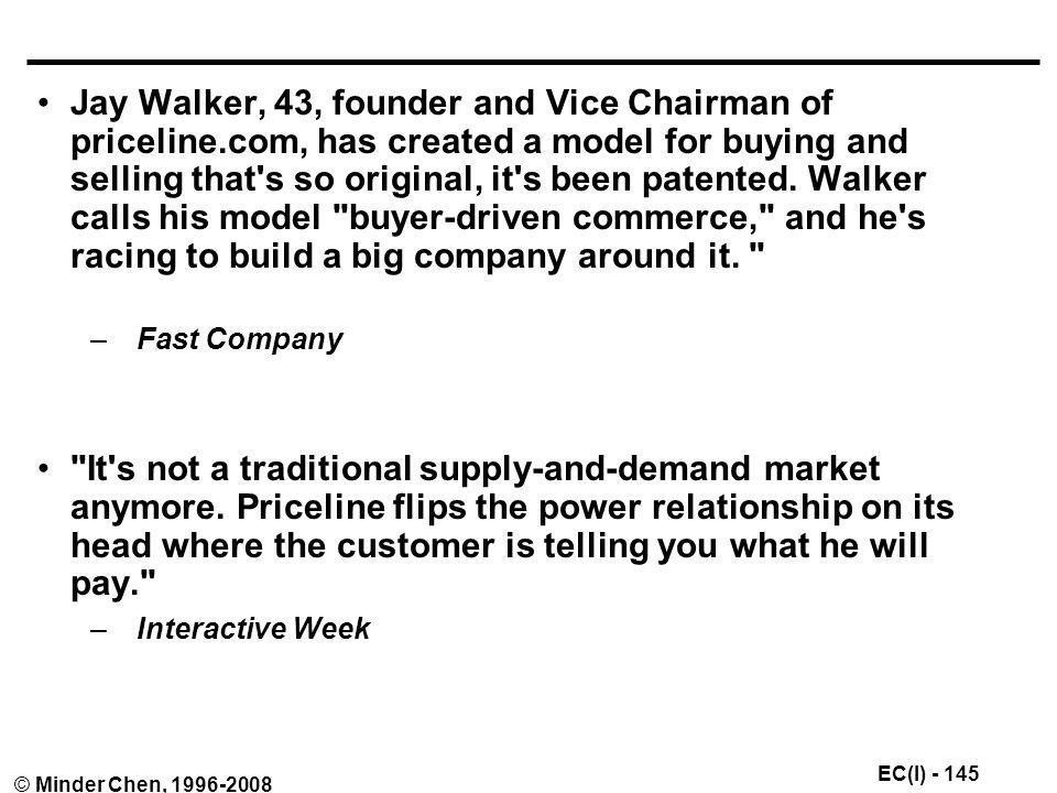 Jay Walker, 43, founder and Vice Chairman of priceline