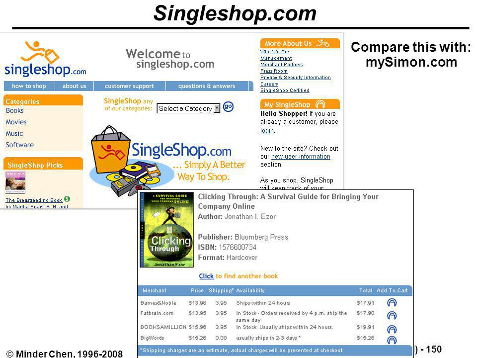 Singleshop.com Compare this with: mySimon.com