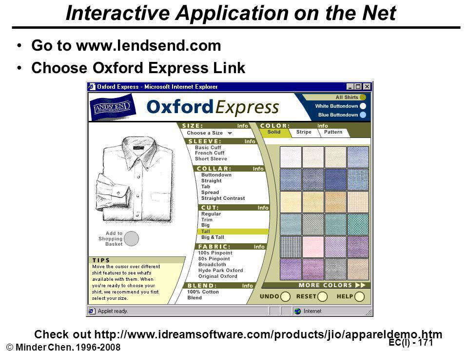 Interactive Application on the Net