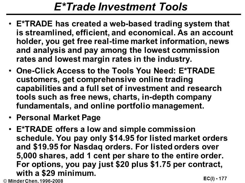 E*Trade Investment Tools
