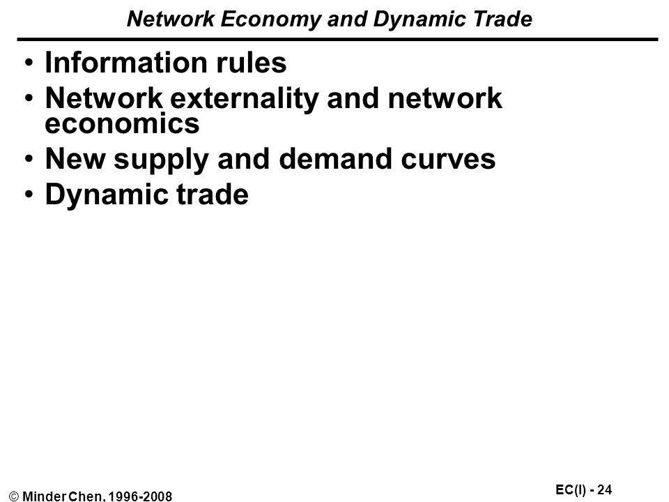 Network Economy and Dynamic Trade