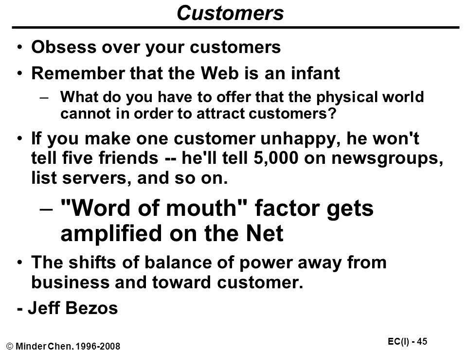 Word of mouth factor gets amplified on the Net
