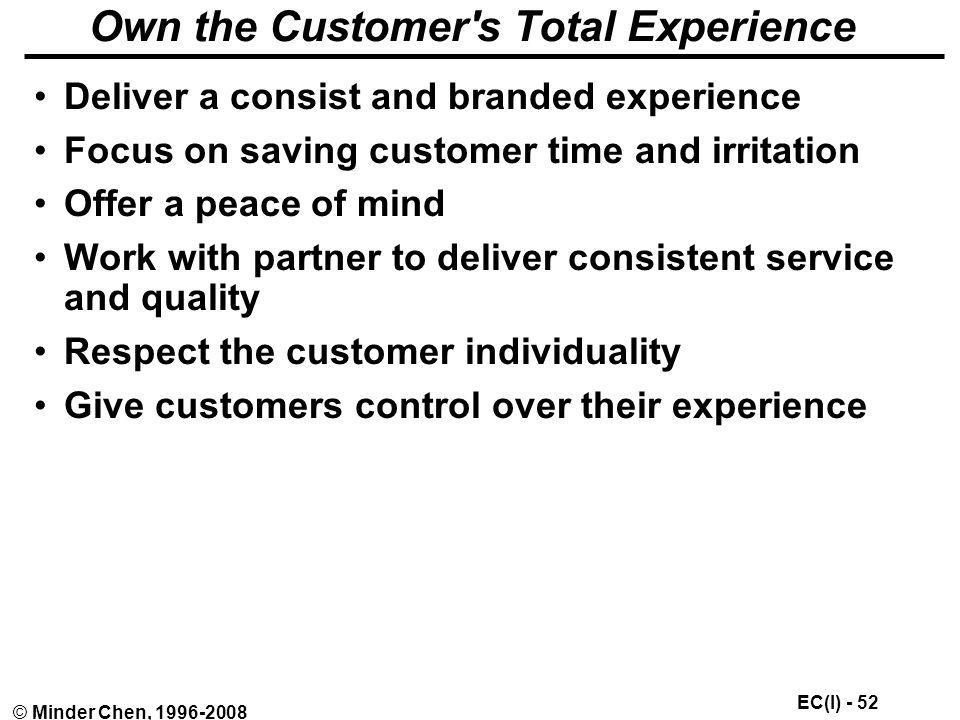 Own the Customer s Total Experience