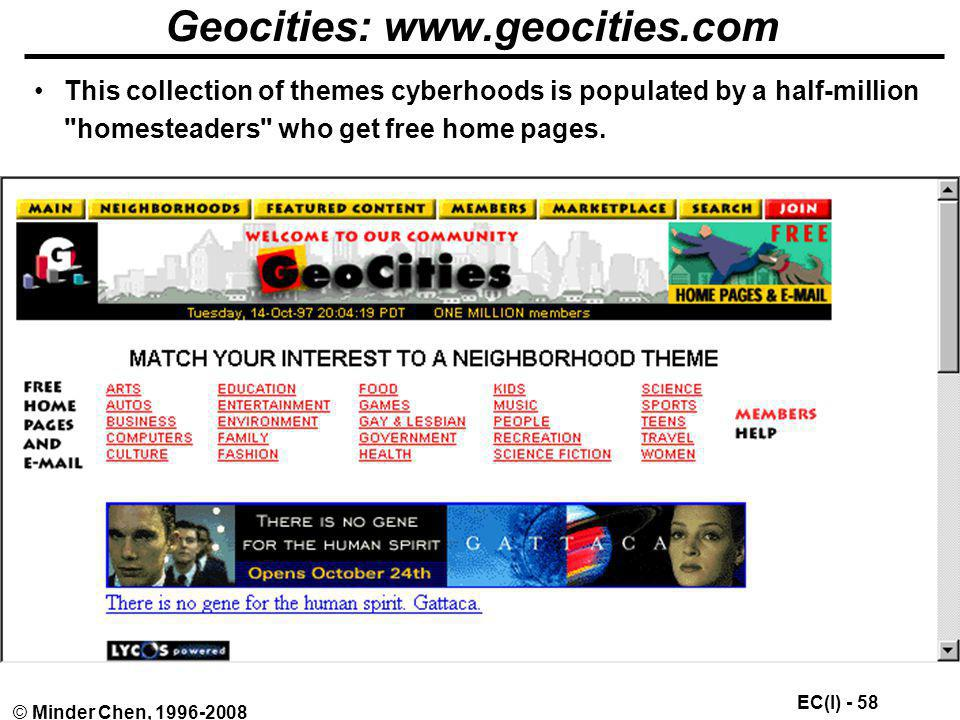 Geocities: www.geocities.com