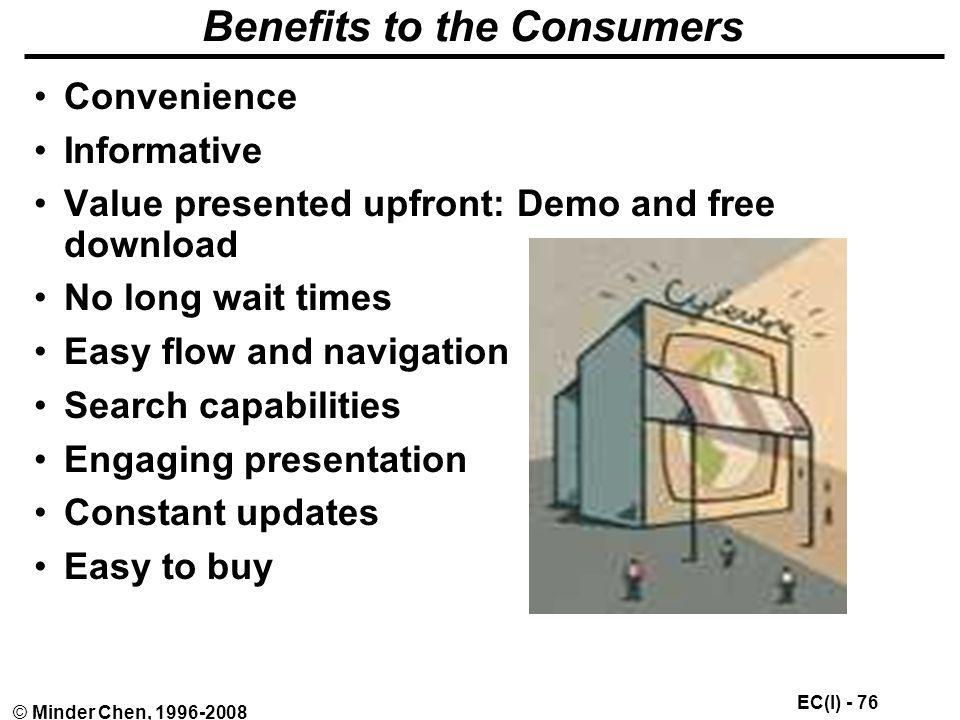 Benefits to the Consumers