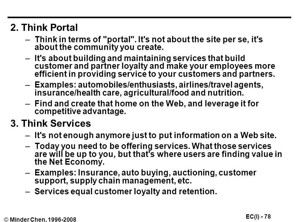 2. Think Portal 3. Think Services