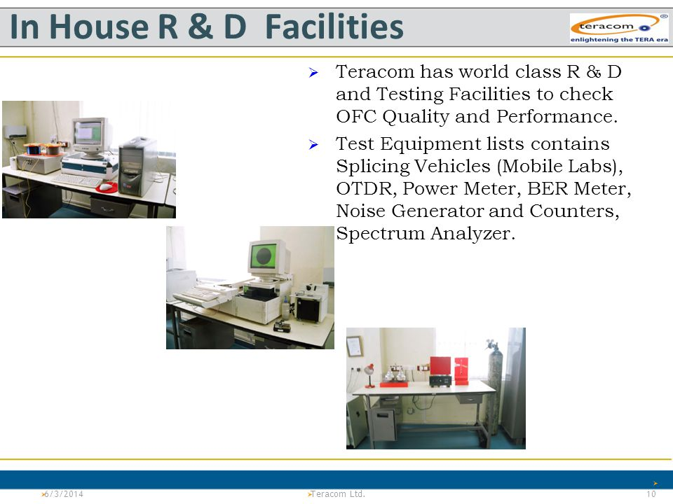 In House R & D Facilities
