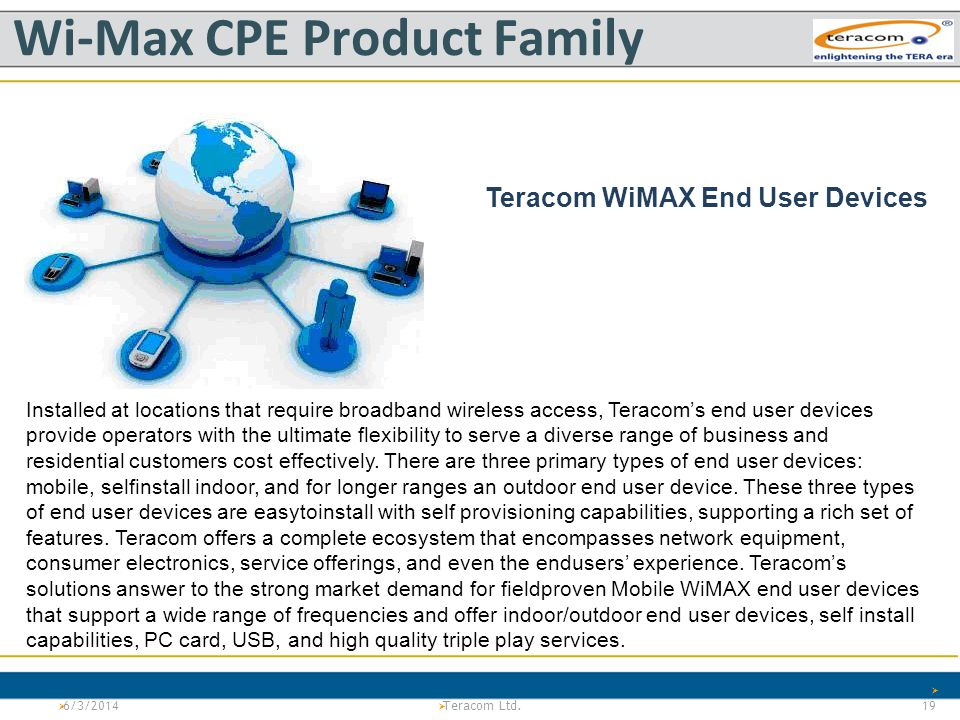 Wi-Max CPE Product Family