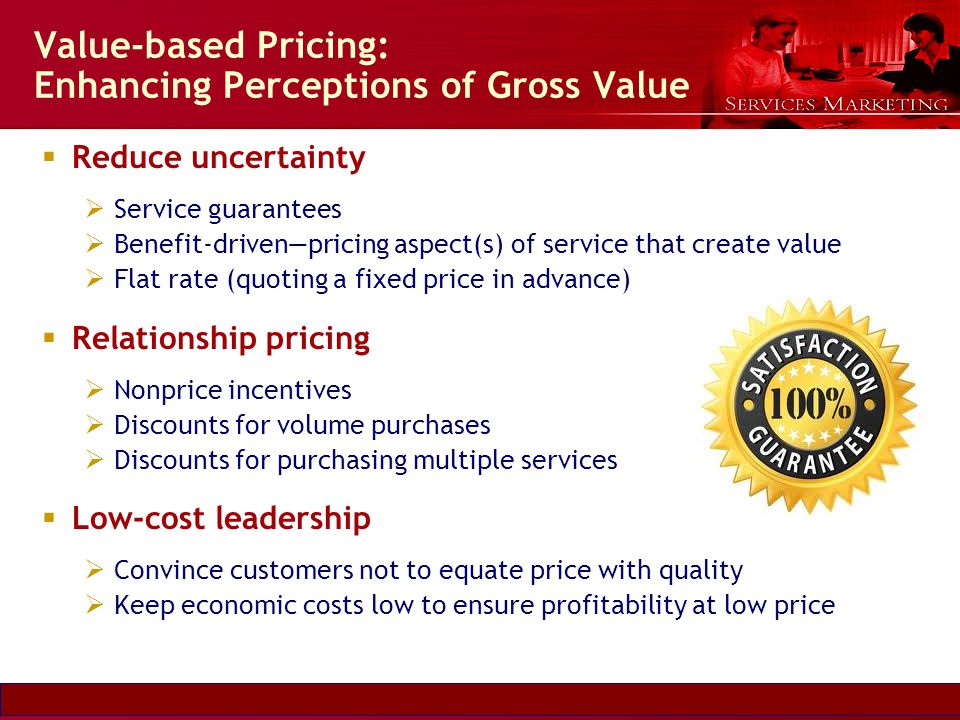 Value-based Pricing: Enhancing Perceptions of Gross Value