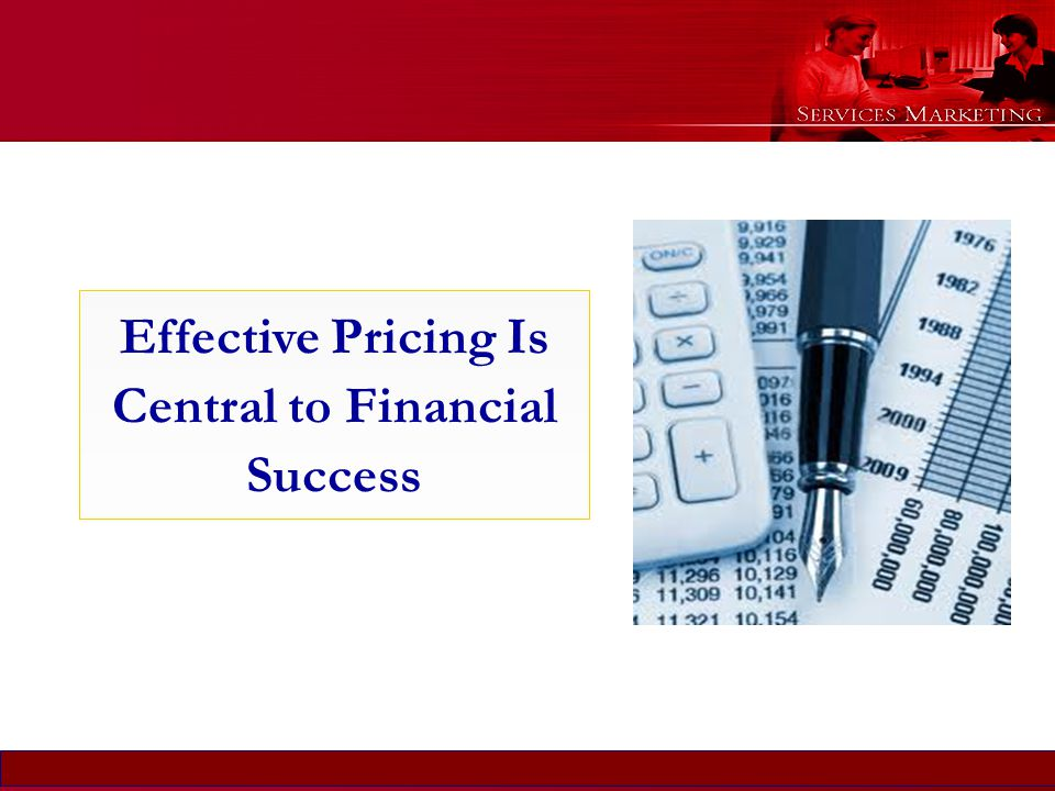 Effective Pricing Is Central to Financial Success