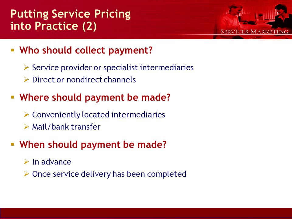 Putting Service Pricing into Practice (2)