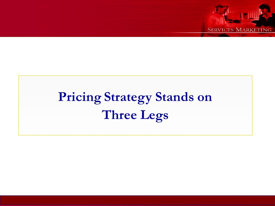 Pricing Strategy Stands on Three Legs