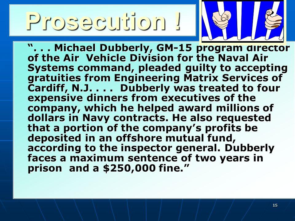 Prosecution !