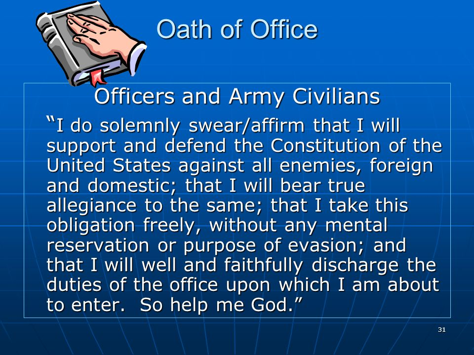 Officers and Army Civilians