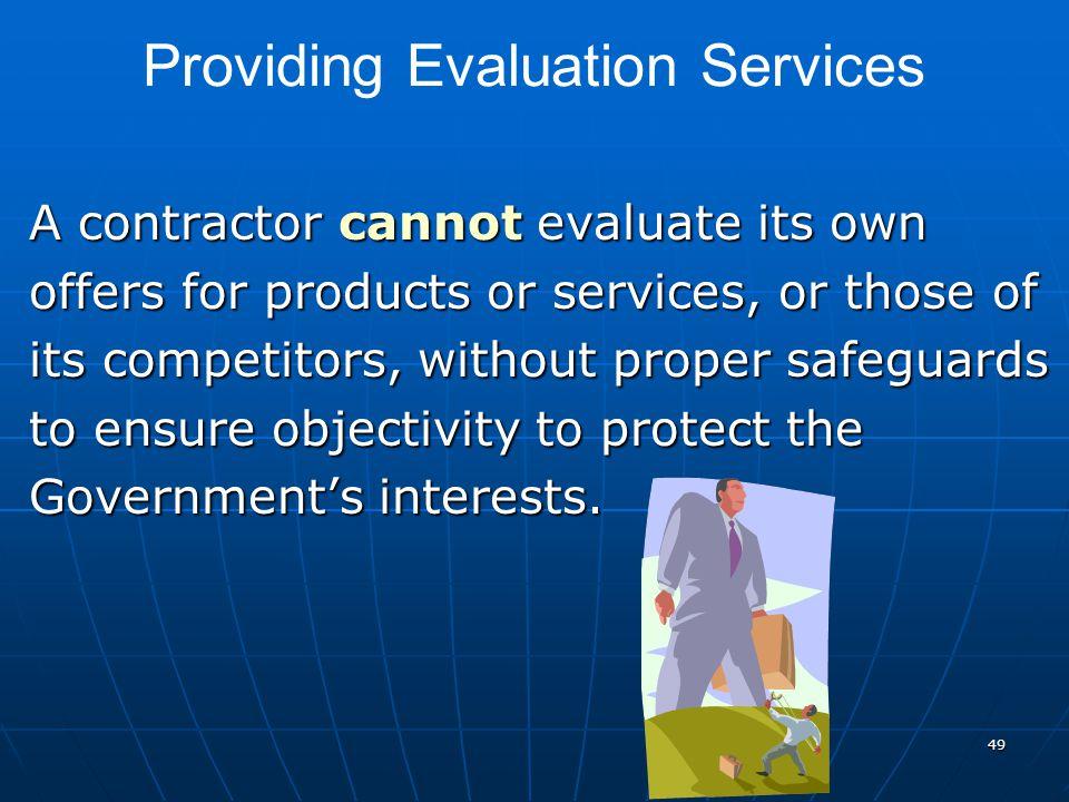 Providing Evaluation Services